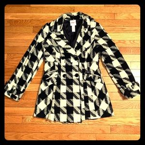 Candies Houndstooth Peacoat